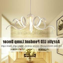Dimmable Acrylic Modern LED Pendant Lamp Ceiling Light Chand