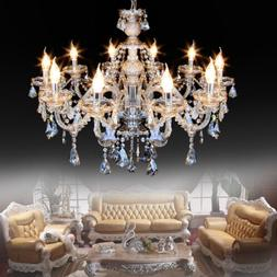 E12 Elegant Crystal Candle Decoration Chandelier Pendant Cei