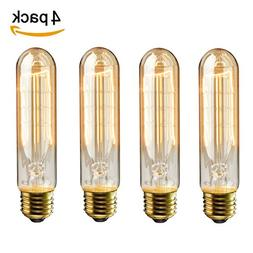 KINGSO 4 Pack E26 E27 Vintage Edison Light Bulbs 60W 110V T1