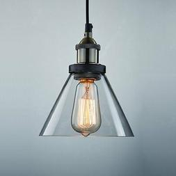 Ecopower Industrial Edison Antique Glass 1-Light Mini Pendan