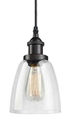 CLAXY Ecopower Industrial Mini Glass Pendant Oil-Rubbed Bron