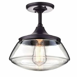 Claxy Ecopower Vintage Metal  Glass Ceiling Light 1-Lights P