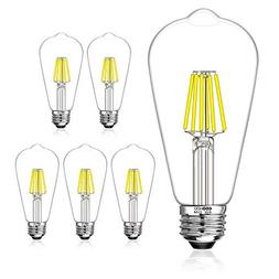 LED Edison Light Bulbs 60W Equivalent Halogen Replacement Di