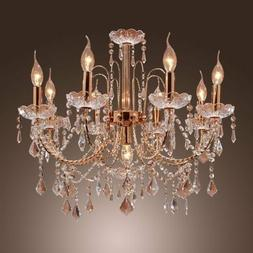 LightInTheBox Elegant Candle Style Crystal Chandelier with 9