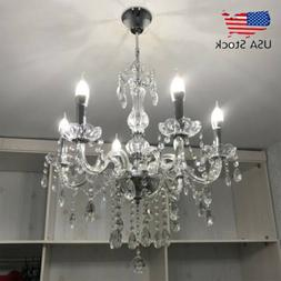 Elegant Crystal Chandelier Modern 6 Ceiling Light Lighting P