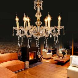Elegant Crystal Chandelier Modern 6 Ceiling Lights Lamp Pend