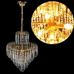 Elegant Crystal Chandelier Modern 6Ceiling Light Lamp Pendan