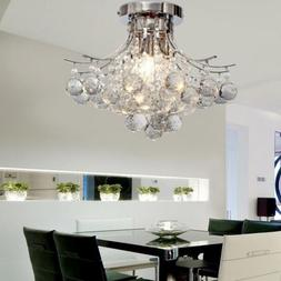 Elegant Crystal Chandelier Pendant Lamp Ceiling Light Fixtur