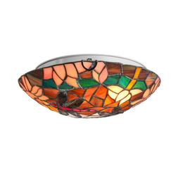 European Dragonfly Pattern Ceiling Light Stained Glass Hangi