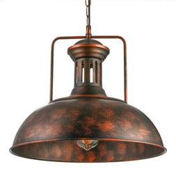 Farmhouse Industrial Dome Pendant Light Vintage Rustic Barn