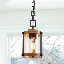 Farmhouse Rustic Pendant Light, 1 Light Hanging Foyer Ceilin