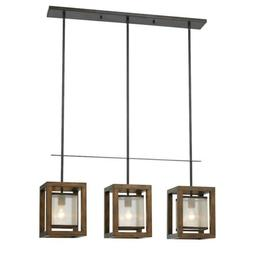 Cal Lighting FX-3536/3PI Mission 3 Light Chandelier with Org