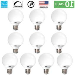 Sunco Lighting 10pk 6W G25 LED Globe Bulb Daylight 5000K Med