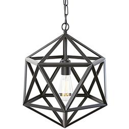 Light Society Geodesic Pendant Light, Matte Black, Geometric