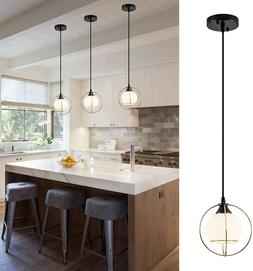 Glass Hanging Light Fixture Pendant Industrial Gold Mini Kit