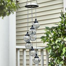 Hanging Globe Solar Lights - Outdoor Pendant Lamp for Patios
