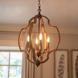 Hanging Light Fixture Rustic Pendant Farmhouse Foyer Dining