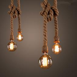 Hemp Rope <font><b>Pendant</b></font> <font><b>Lights</b></f