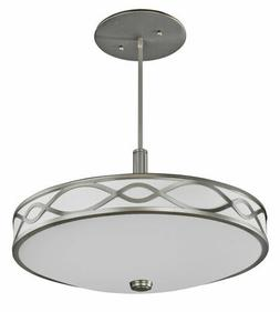 AFX Hudson 4 Light Satin Nickel Chandelier/Pendant Orig $420