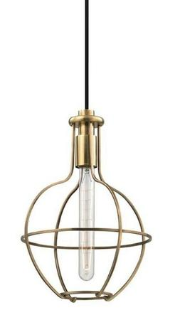 Hudson Valley Colebrook 1 Light Pendant  Aged Brass  1051-AG