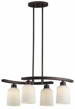 Canarm ICH431A04ORB Quincy 4-Light Chandelier, Oil Rubbed Br