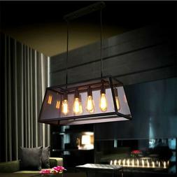 Industrial 4 Light Kitchen Island Hanging Pendant Lamp Ceili
