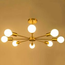 Industrial 6/8 Heads Sputnik Chandelier Pendant Lamp Ceiling