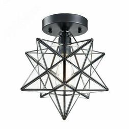 AXILAND Industrial Black Copper Moravian Star Ceiling Light