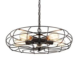 YOBO Lighting Industrial Chain Hanging Pendant Light Chandel