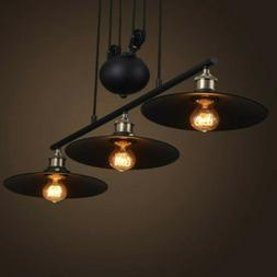 Industrial Chandelier Pulley Ceiling Light Pendant Lamp Kitc