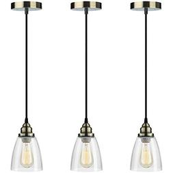Pendant Light 3-Pack, Farmhouse Edison Hanging Lights Height