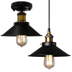 Industrial Hanging Ceiling Edison Light Semi Flush Mount Pen