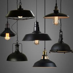 Industrial Loft Warehouse Barn Pendant Lamp Indoor Hanging C