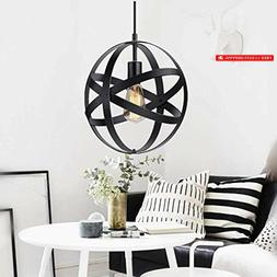 KingSo Industrial Metal Pendant Light, Spherical Pendant Lig
