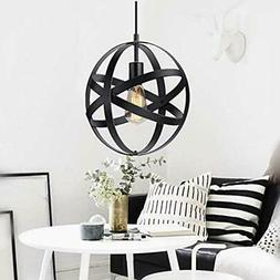 KingSo Industrial Metal Pendant Light, Spherical Rustic Chan