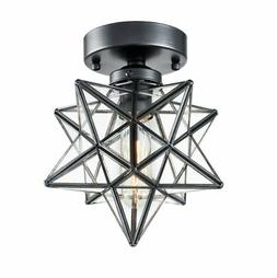 industrial moravian star ceiling light with 8