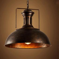 "Industrial Nautical Barn Pendant Light 16"" Single Pendant La"
