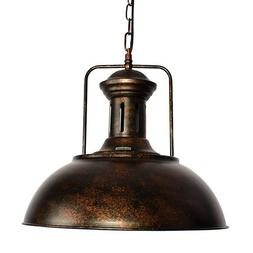 Industrial Nautical Barn Pendant Light Lamp with Rustic Dome