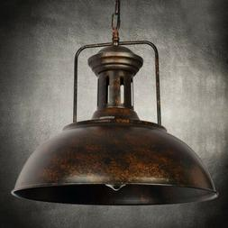 "Industrial Nautical Barn Pendant Light - LITFAD 16"" Single P"