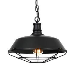Ivalue Industrial Pendant Light Vintage Metal Black Barn Cag