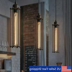 Retro Industrial Vintage Flute Pendant Lamp Kitchen Bar Hang