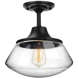 Petronius Industrial Semi Flush Mount Ceiling Light, Farmhou