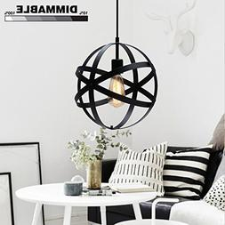 KingSo Industrial Metal Pendant Light Spherical Ceiling Ligh