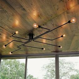 Vintage Industrial Semi Flush Mount Ceiling Chandelier Steam