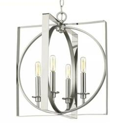 Inman Collection 4-Light Polished Nickel Pendant with Satin