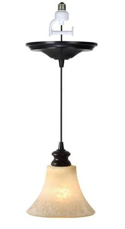 Worth Home Products Instant Screw In Pendant Light with Scav