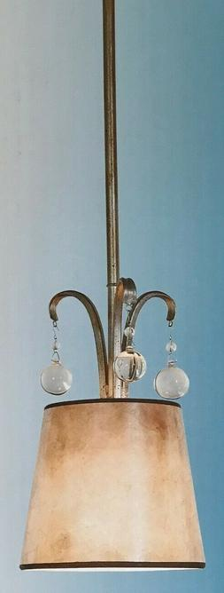 "Quoizel ""Jenna"" Mini Pendant Light - Gold Finish w/Mica Shad"