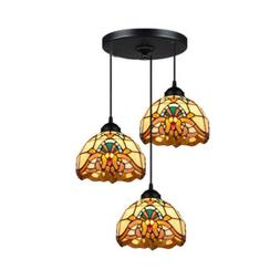 kitchen stained glass island lighting fixture tiffany