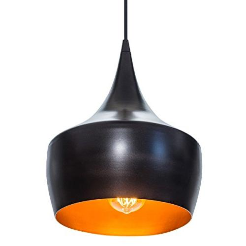 Globe Electric Modern Industrial Pendant, Rubbed Inner Finish, A19 60W Bulb , 63871