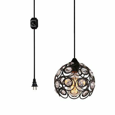 1 light hanging plug in pendant black